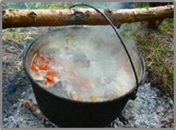 Приготовление рыбы в походных условиях
