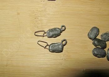 Микроджиговые ушастые груза с застежкой из сетевых грузов. Изготовление микрочебурашек своими руками(2 часть)